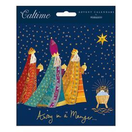 image-Woodmansterne Away in a Manger Advent Calendar Card