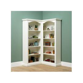 image-Burford Painted Corner Bookcase
