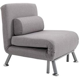 image-Chaplin Futon Chair Ebern Designs Upholstery Colour: Dark Grey