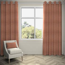 image-Agneta Hamleton Textured Eyelet Blackout Thermal Curtains Ebern Designs Colour: Terracotta, Panel Size: 167 W x 228 D cm