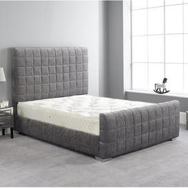 image-Carli Upholstered Bed Frame Metro Lane Colour: Silver, Size: Single (3')