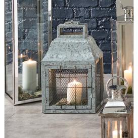 image-Iron Lantern Williston Forge Colour: Silver, Size: 61cm H x 37cm W x 25cm D