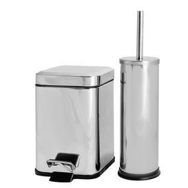 image-Free Standing Toilet Roll & Brush Holder