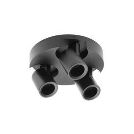image-Tazewell 3-Light 22cm Ceiling Spotlight Symple Stuff Fixture Finish: Black