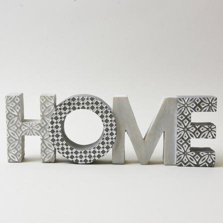 image-Geo Home Word Ornament Grey