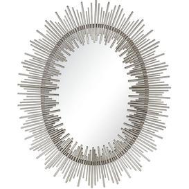 image-Serene Orai Silver Sunburst Mirror - 86cm x 107cm
