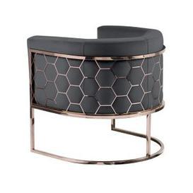 image-Alveare tub chair Copper -Smoke grey