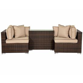 image-Finch 2 Seater Rattan Sofa Set Sol 72 Outdoor Colour: Chocolate/Coffee Cream