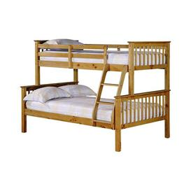 image-Otto Small Double Bunk Bed Just Kids Colour: Antique Waxed Pine