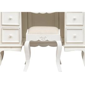 image-Urban Deco Fleur French Style Shabby Chic Painted Dressing Stool