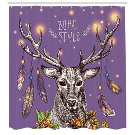 image-Deer Shower Curtain East Urban Home