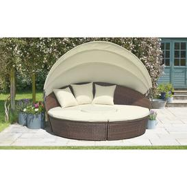 image-Tuveson Garden Daybed with Cushions Sol 72 Outdoor Colour (Frame): Brown