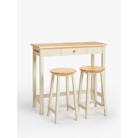 image-ANYDAY John Lewis & Partners Adler Bar Table & Stools, Cream
