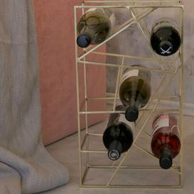 image-Vino 9 Bottle Tabletop Wine Rack