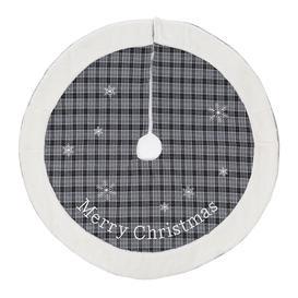 image-A by AMARA Christmas - Tartan Merry Christmas Tree Skirt - Grey - 100cm