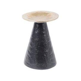 image-Libra Adari Organic Gold and Black Large Pillar Candle Holder