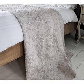 image-Grey Floral Cascade Bedspread