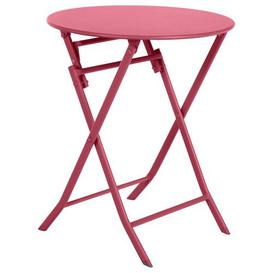 image-Nifleim Folding Steel Bistro Table Sol 72 Outdoor Colour: Cherry