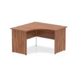 image-Impulse Corner Computer Desk In Walnut With Panel End Leg
