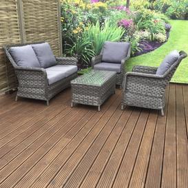 image-Signature Weave Garden Furniture Mia 2 Seater Sofa Set