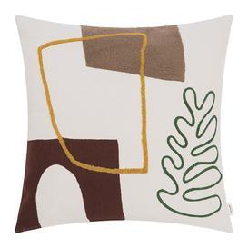 image-Ferm Living - Hand Woven Mirage Cushion - 50x50cm - Leaf