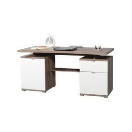 image-Lance Wooden Computer Desk in Dark Oak