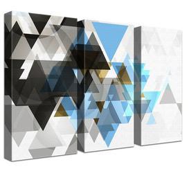 image-Triforce Light 3 Piece Wall Art Set on Canvas Ebern Designs Medium: Cotton blended fabric (350g/m), Size: 80cm L x 120cm W