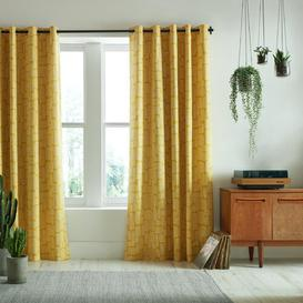 image-Little Trees Eyelet Room Darkening Curtains MissPrint Panel SIze: 168 W x 229 D cm, Colour: Yellow