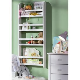 image-Habitat Scandinavia Kids 4 Shelf Wall Mounted Bookcase White