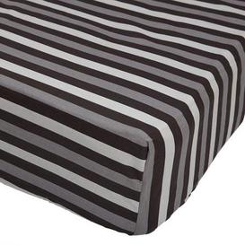 image-Stars Black 25cm Fitted Sheet Black