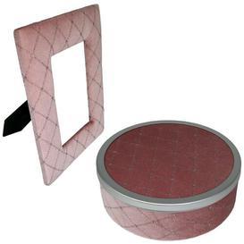 image-Velvet Jewellery Box Rosdorf Park Finish: Pink