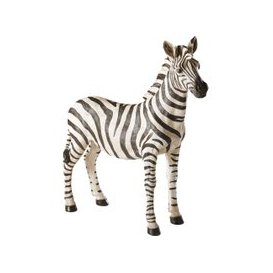 image-Black and Ecru Zebra Ornament H75