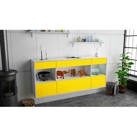 image-Swanley Sideboard Brayden Studio Colour (Body/Front): White Mat/Yellow