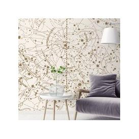 image-Visible Heaven Wall Mural (colour: Vintage White, size: Large (450w x 300h))