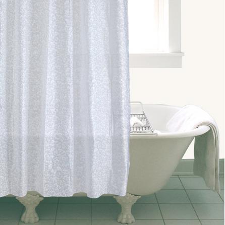 image-White Bubbles Shower Curtain White