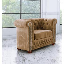 image-Alcide Chesterfield Chair Ophelia & Co. Upholstery Colour: Beige
