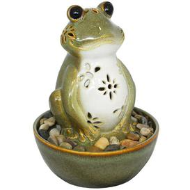 image-Unadilla Ceramic Frog Fountain with Light Sol 72 Outdoor