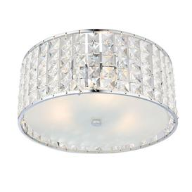 image-Endon 61252 Belfont Crystal Bathroom Ceiling Flush Light IP44