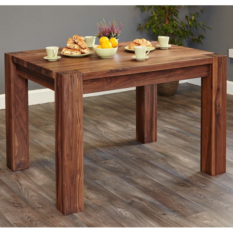 image-Shiro Walnut Furniture 4 Seater Dining Table