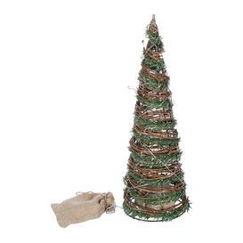 image-A by AMARA Christmas - Rattan Lit Tree Ornament - 30cm