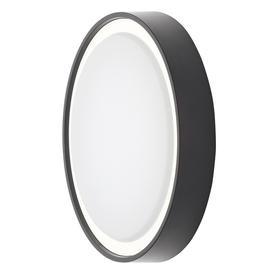 image-Flotta Small Outdoor LED Round Flush Wall Light, Black