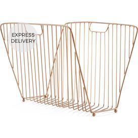 image-Odessa Magazine Rack, Copper