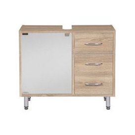 image-Cobham Bathroom Vanity Cabinet In Sonoma Oak Effect
