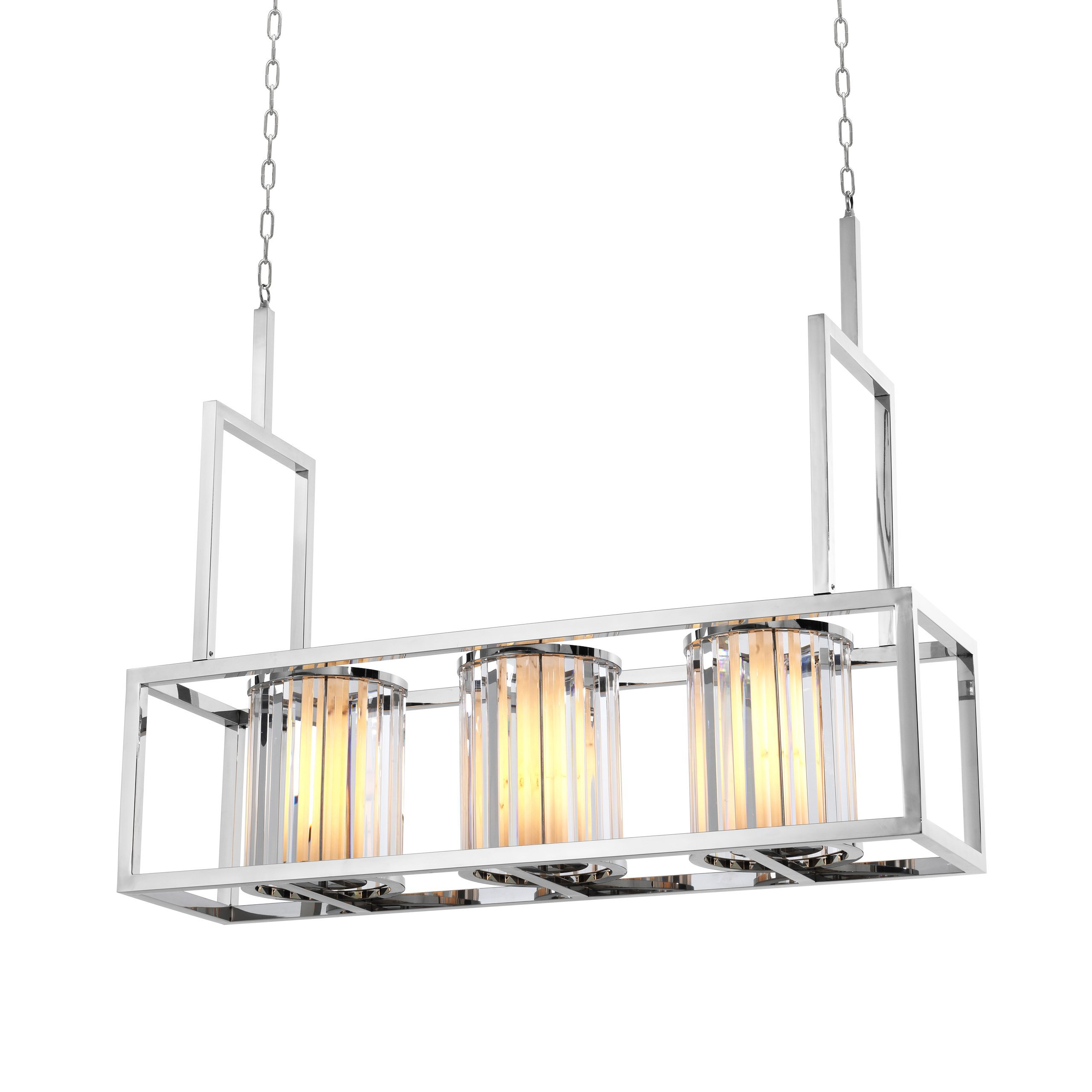 image-Eichholtz Chandelier Carducci polished stainless steel