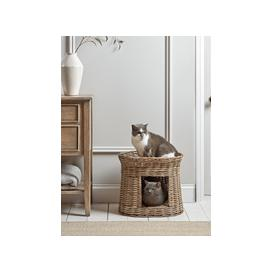 image-Round Rattan Pet Bunk Bed