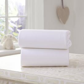 image-Fitted Cot Sheets Clair De Lune Colour: White