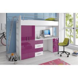 image-Asturia High Sleeper Bedroom Set Selsey Living Colour: Purple