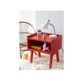 image-Mathy by Bols Kids Bedside Table in Madavin Design - Mathy Winter Pink