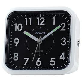 image-Bromley 3D Alarm Clock Ravel Finish: White