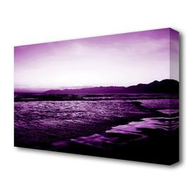 image-'Purple Ocean At First Light Landscape' Photographic Print on Canvas East Urban Home Size: 81.3 cm H x 121.9 cm W
